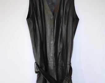 Vintage GIORGIO leather dress ....