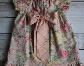 Vintage Peasant Dress - Size 2