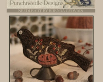 Pattern: Trick or Tweet Punchneedle by Brenda Gervais, With thy Needle and Thread/Country Stitches