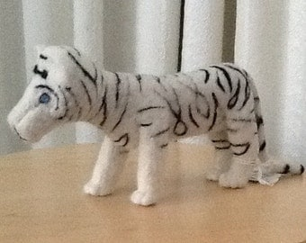White Tiger, Needle Felted, Merino Wool