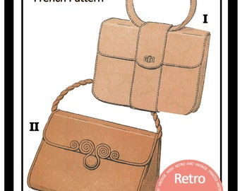 1950s Handbag/Purse French Sewing Pattern- PDF Instant Download