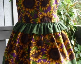 Little girls Sunflower dress