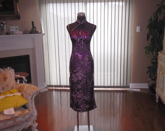 Chinese cheongsam, Wedding Cheongsam, Purple Cheongsam, Chinse Dress, Cheongsam dress