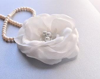 Bridal Hair Flower -  Bridal Hair Clip - Wedding Silk Flower - Wedding Hair Accessory - Bridal Floral Hair Piece - Wedding Flower
