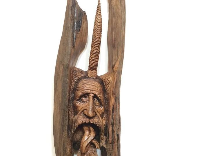 Wood spirit carving joshcarteart