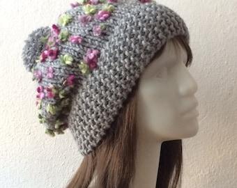 Boho Hat, Slouchy Beanie Women, Pom Pom Hat, Slouchy Beanie, Knit Beanie, Beanie Hat, Chunky Slouchy Beanie Hat