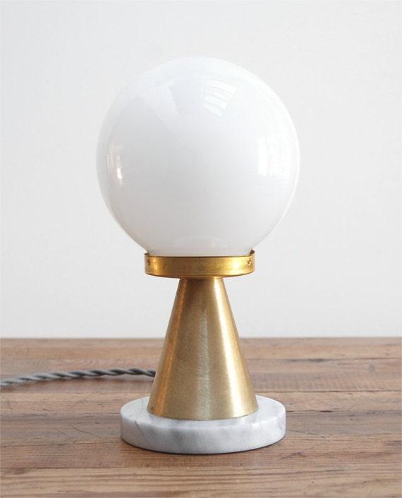 Modern Table Lamp Mid Century Table Lamp Marble Table Lamp