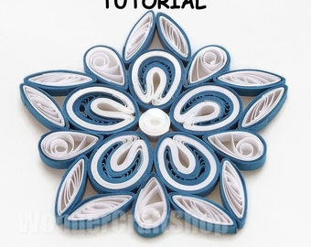 ... ornament christmas decoration pattern quilling tutorial star pattern