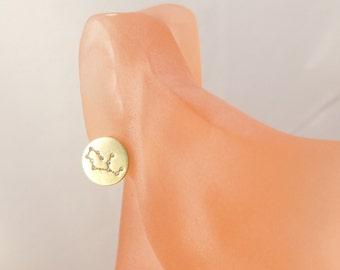 Virgo Constellation stud earrings,virgo earrings,Zodiac jewelry,Zodiac earrings,Constellation Jewelry,Gift idea,zodiac jewelry