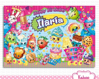 DIGITAL Shopkins Backdrop - Shopkins Birthday Party - PRINT yourself - NOT being sent in the post
