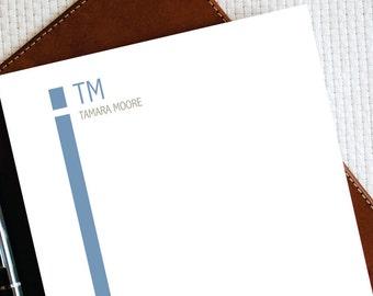 Personalized Notepad – UPPERCASE MONOGRAM - Personalized Stationary Notepad - Custom Monogrammed Stationery Notepad - Modern Stationery