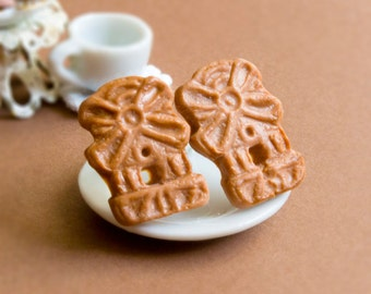 Speculaas cookies studs miniature food