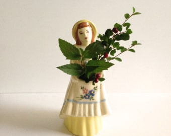Vintage Ceramic Young Woman Planter by California Figurine