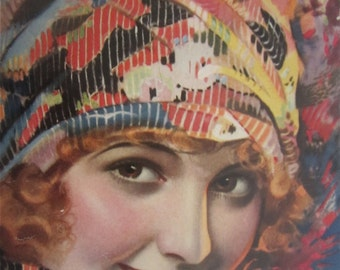 Original March 1932 Priscilla Dean Photoplay Magazine Cover By Rolf Armstrong - Hollywood's Golden Age - Free Shipping