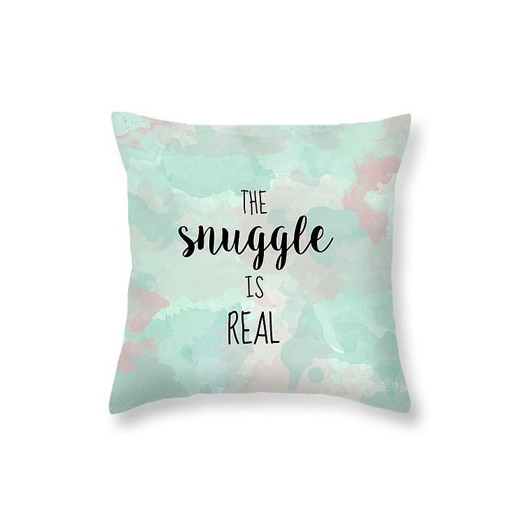 How To Make Cute Decorative Pillows : Typography Pillow Snuggle Pillow Quote Cute Pillows for Kids