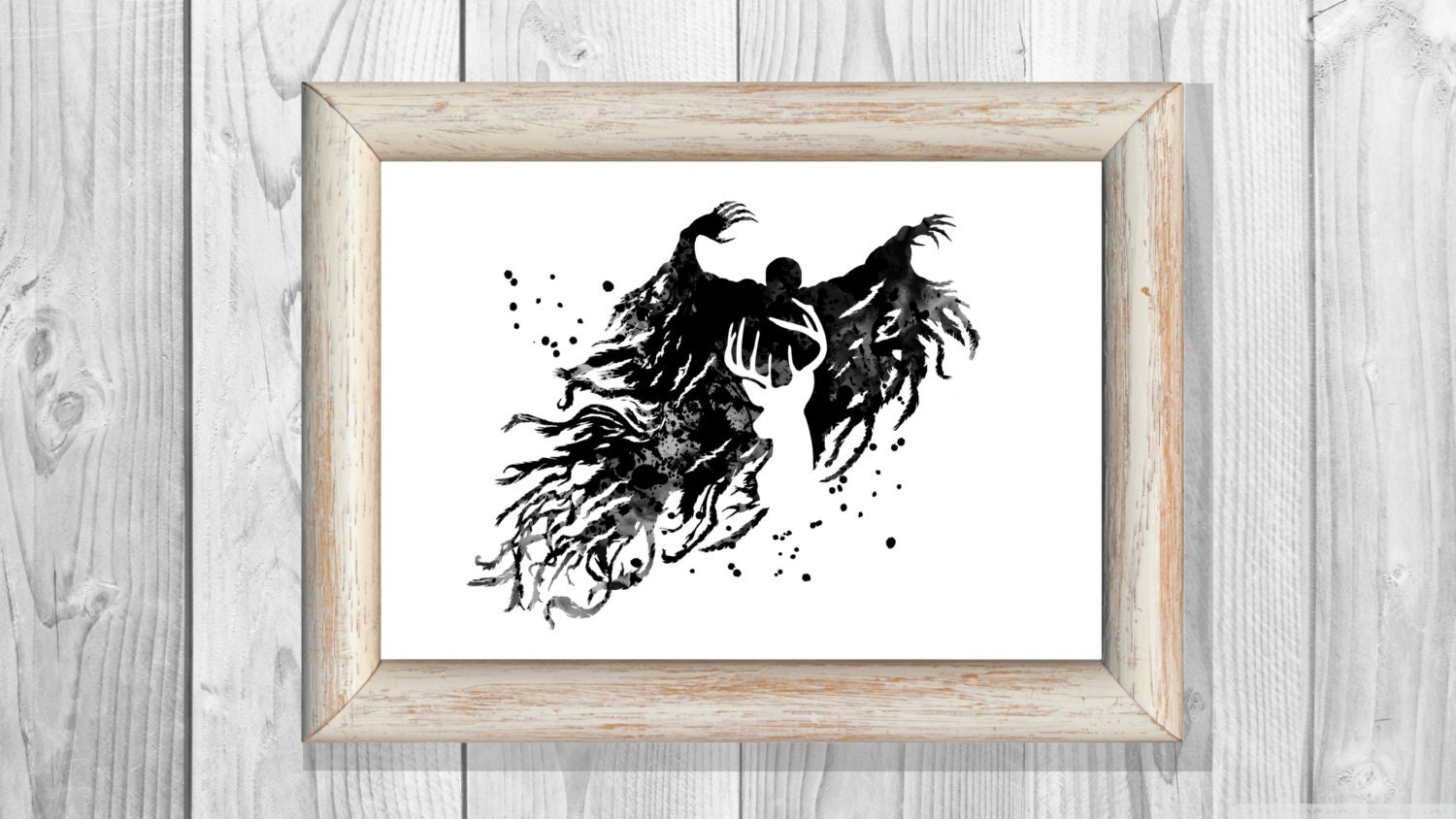 Art harry potter poster harry potter wall art 479 office decor - Harry Potter Poster Dementor Poster Harry Potter Watercolor