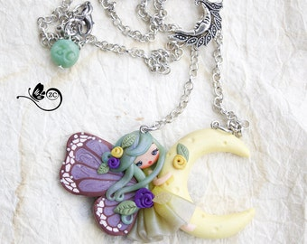 polymer clay necklace / fimo / clay / polymerclay/zingaracreativa