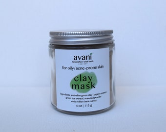 Clay Facial Mask | Oily, Acne-Prone Skin
