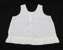 White Cotton Slip For a Toddler - 'Her Majesty' Brand - Size 4T - Light Summer Dress - Lace, Ribbon and Ruffles - Full Skirted Slip