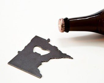 July 4th  Minnesota Recycled Metal Bottle Opener - Travel Memento