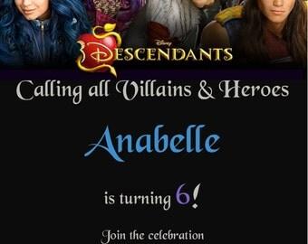 5x7 The Descendants Birthday Invitation