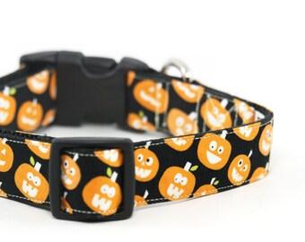 Pumpkin Dog Collar Halloween Fall Dog Collar Orange Dog Collar - Wiggly