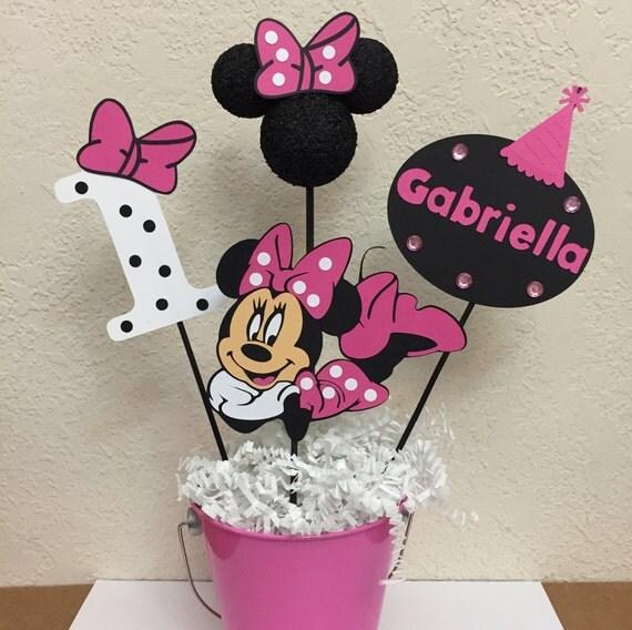 Minnie mouse birthday centerpiece decorations - Decoracion minnie cumpleanos ...