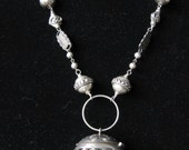 RESERVED Sterling Silver Repurposed Upcycled Recycled Tea Strainer Necklace