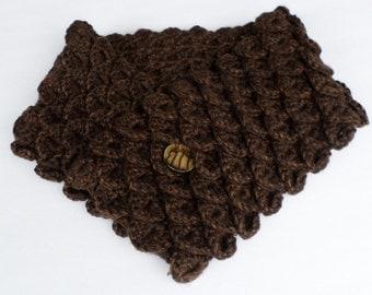 Handmade Crocheted Scarf/Scarflett/neckwarmer