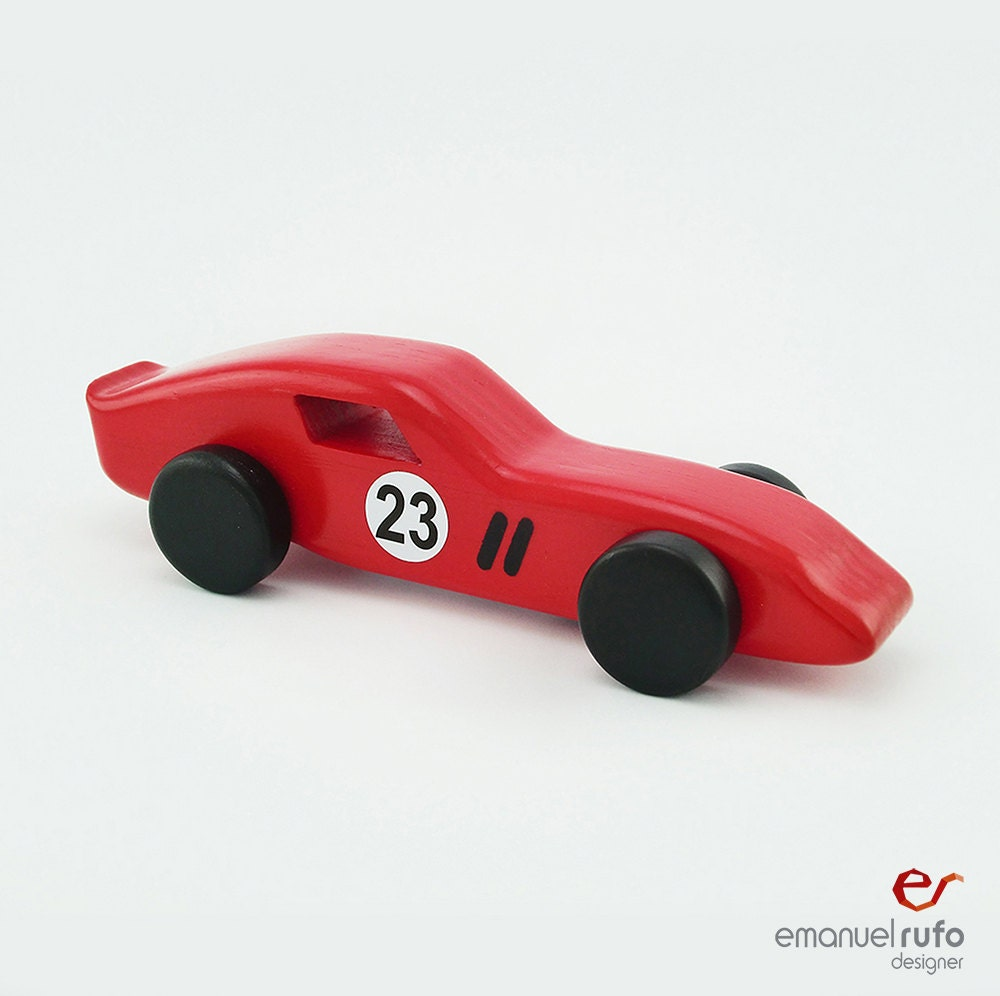red wooden toy car wooden car for kids boys classic race