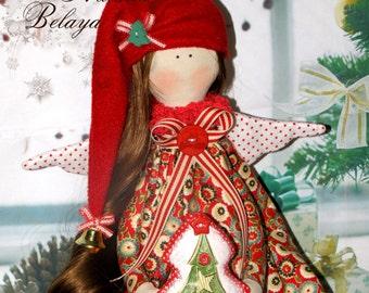 Christmas Tilda doll. Handmade.