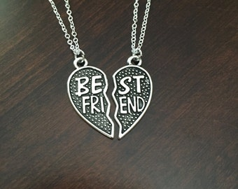 Best Friend Necklace, Best Friend Jewelry, BFF Jewelry, BFF Necklace, Friendship Necklace, Friendship Jewelry, Heart Necklace, Necklace
