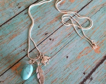 Sterling Silver & Turquoise Friendship Necklace
