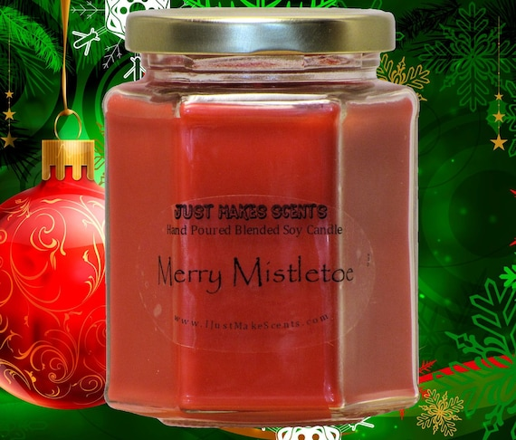 Merry mistletoe christmas candle homemade by ijustmakescents