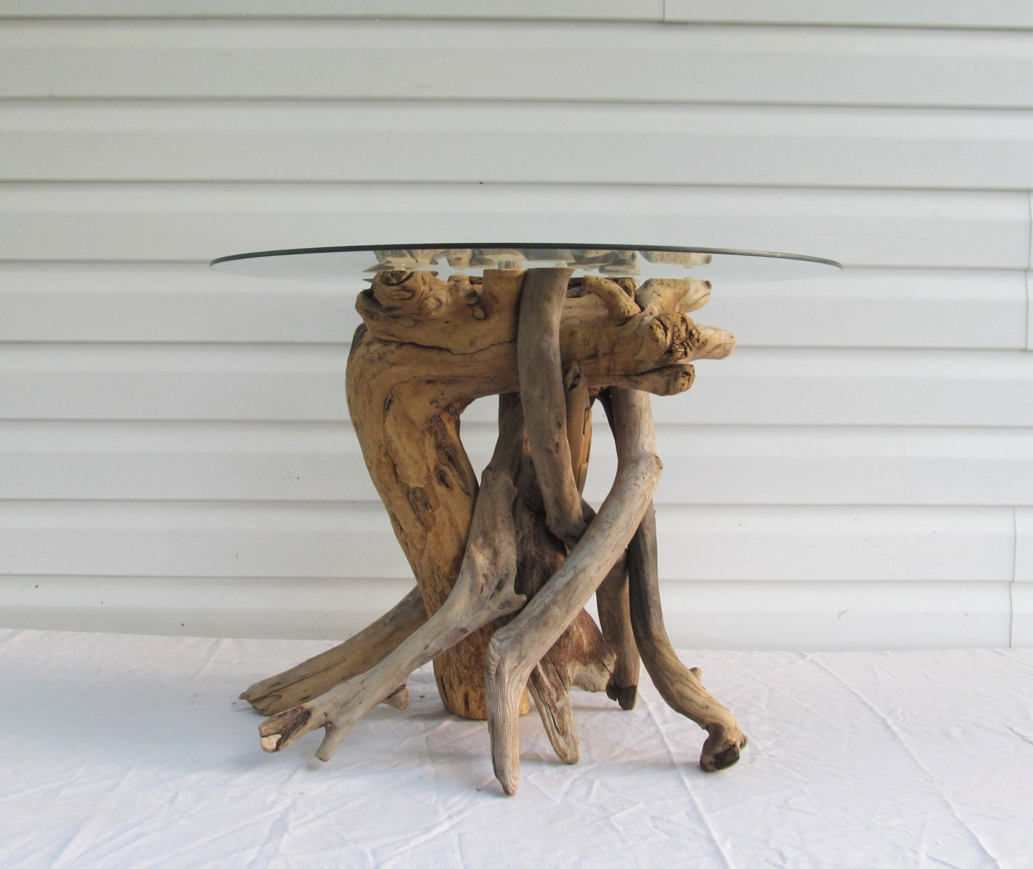 Driftwood End Table: IN STOCK Driftwood Side Table Base Driftwood Table Beach