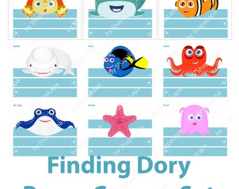 Finding Dory Crown Set. 10 Characters. Finding Dory Party Hats. Finding Dory Birthday Decor. Finding Dory Photo Props. DIGITAL