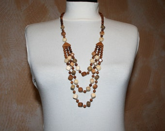 Wooden necklace.