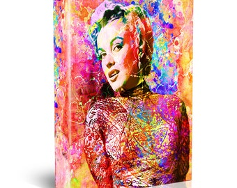 Marilyn Monroe Painting, Hollywood Canvas, Monroe Art Print