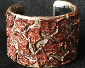 Cuff Bracelet Bangle Boho Polymer Clay Mid Century Modern Jewelry FRAGMENT by Donna Pellegata ArtCirque