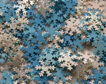 Snowflake Craft Punches, Confetti, Scrapbooking, Craft Supply, Chrismas Cards | 100 Pieces