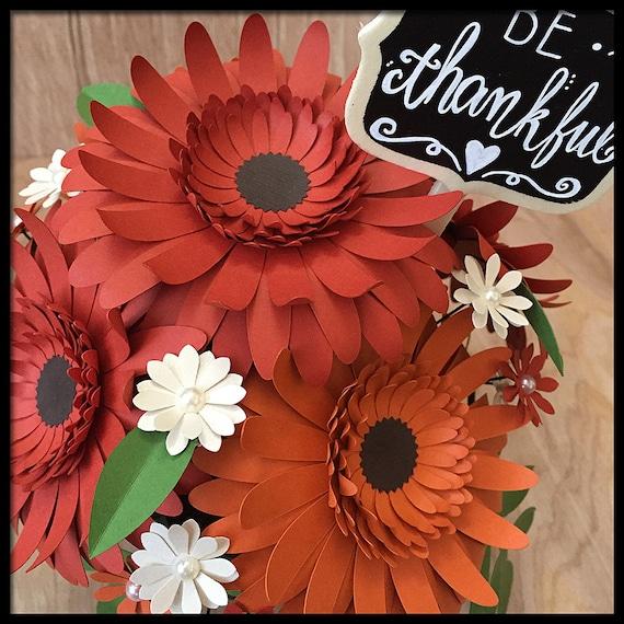 Thanksgiving centerpiece paper flower arrangement be