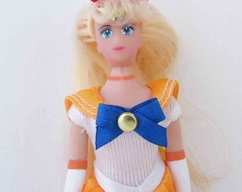 Sailor Venus Doll Toy Anime Sailor Moon 6 Inch - Marked 1995