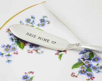 Cheese Knife, Cheese Spreader, Brie Mine, Brie Cheese Knife, Brie Mine Spreader, Valentine's Day, Valentine's Day Gift, Be Mine