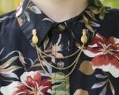 Gold Pineapple Collar/Cardigan Clip