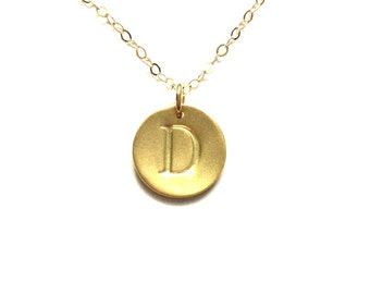 Stamped Necklace, Initial Jewelry, Gold Necklace, Custom Stamped, Personalized Jewlery, Personalized Necklace