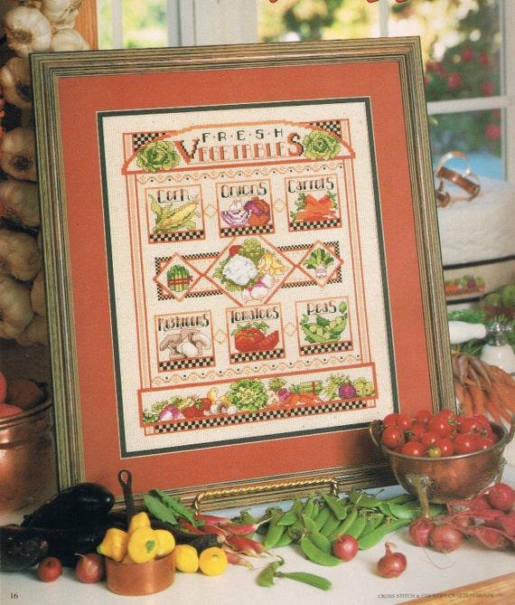 Kitchen Decor Vegetables: Fresh Vegetables Sampler Counted