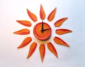 Sunburst Wall Clock Sun w...