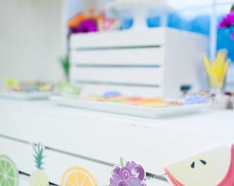 Printable Fruit Banner - Tutti Frutti