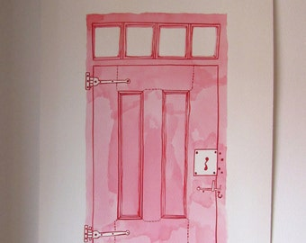 door . original drawing by Ana Frois