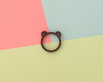 Brown Bear Acrylic Ring